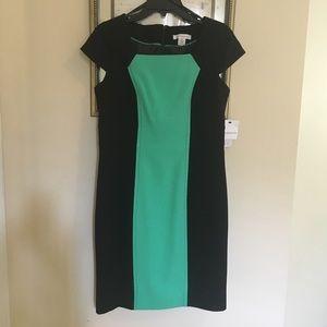 LIZ CLAIBORNE Dress Black and Green Size 10 NWT